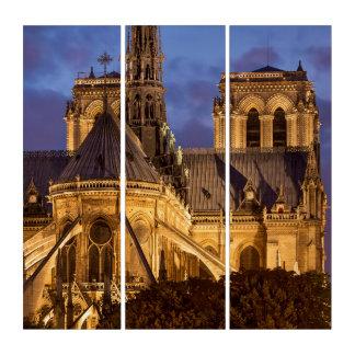 Tríptico Catedral de Notre Dame en la noche