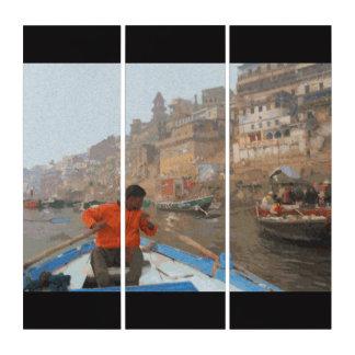 Tríptico El Ganges en Varanasi