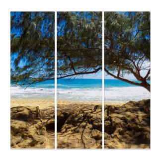 Tríptico En la playa
