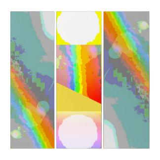 Tríptico Hmmm sol y arco iris