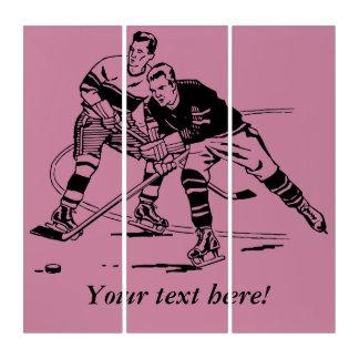 Tríptico Hockey sobre hielo