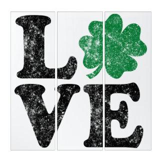 Tríptico Irlandés del trébol del AMOR del día de St Patrick
