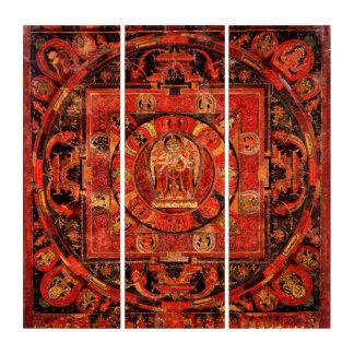 Tríptico Mandala Thangka de Amogapasha