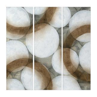 Tríptico Orbes y círculos blancos de Brown