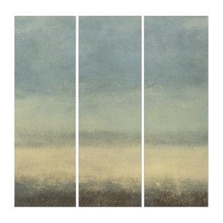 Tríptico Paisaje abstracto con el cielo cubierto