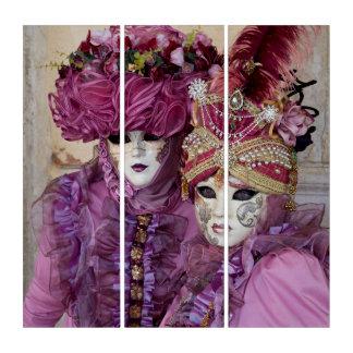 Tríptico Pares en el traje del carnaval, Venecia