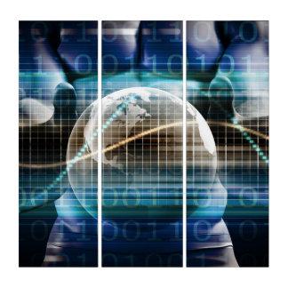 Tríptico Plataforma de la seguridad del control de acceso