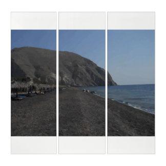 Tríptico Playa de Santorini