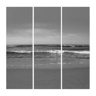 Tríptico Playa negra y blanca