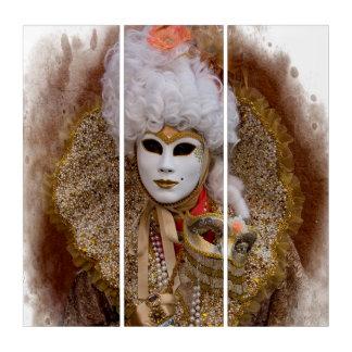 Tríptico Retrato del traje del carnaval, Venecia