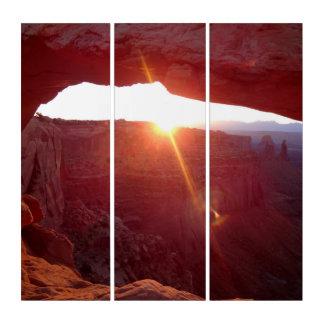 Tríptico Salida del sol del arco del Mesa