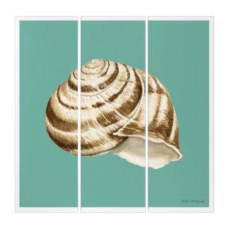 Tríptico Sepia Shell rayado en trullo