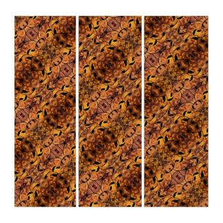Tríptico Silueta abstracta moderna de la hoja del otoño
