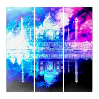 Tríptico Sueños del Taj Mahal del cielo de la creación