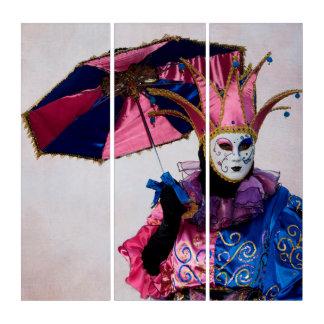 Tríptico Traje del carnaval del bufón, Venecia