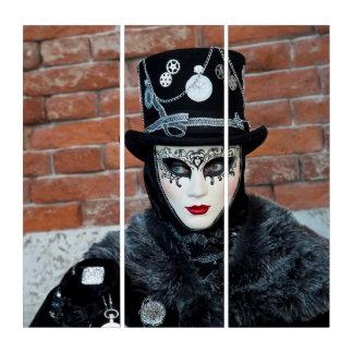 Tríptico Traje del carnaval del reloj, Venecia
