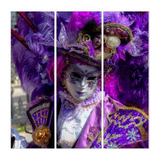 Tríptico Traje del carnaval, Venecia