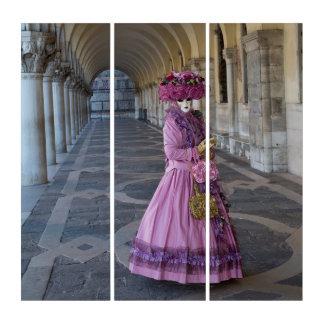 Tríptico Traje femenino del carnaval, Venecia