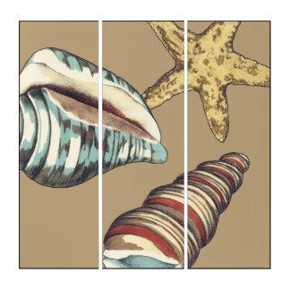Tríptico Trío de Shell en de color caqui