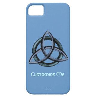 Triquetra (azul) iPhone 5 cárcasas