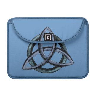 Triquetra (azul) fundas para macbook pro