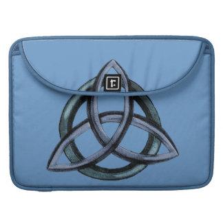 Triquetra (azul) funda para macbook pro