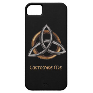 Triquetra (Brown/plata) iPhone 5 Protectores