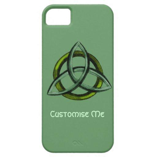 Triquetra (verde) iPhone 5 Case-Mate cárcasas