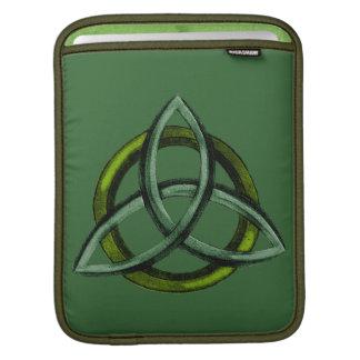 Triquetra (verde) mangas de iPad