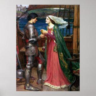 Tristan e impresión de la lona de Isolda Póster
