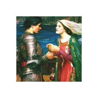 Tristan e Isolda con el ~ de la poción (detalle) Impresión En Lona
