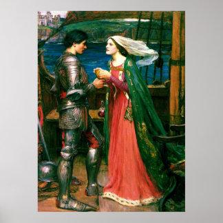 Tristan e Isolda con la bella arte del ~ de la poc Poster