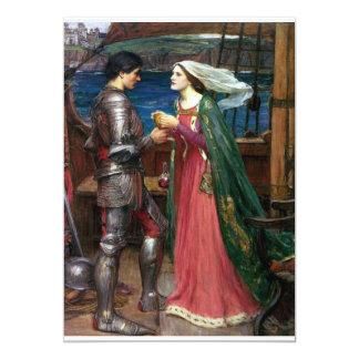 Tristan e Isolda con la poción Invitación 12,7 X 17,8 Cm