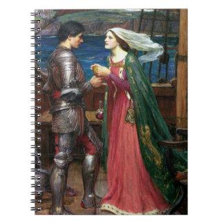Tristan e Isolda con la poción Libro De Apuntes Con Espiral