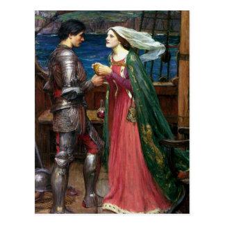 Tristan e Isolda con la poción Postal