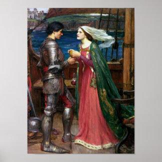 Tristan e Isolda con la poción Posters