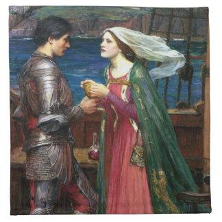 Tristan e Isolda con la poción Servilletas Imprimidas