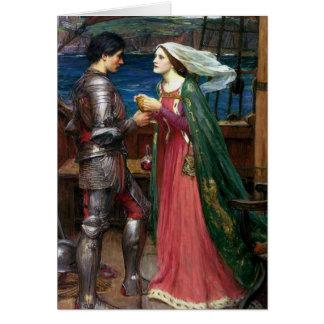 Tristan e Isolda con la poción Tarjeta De Felicitación