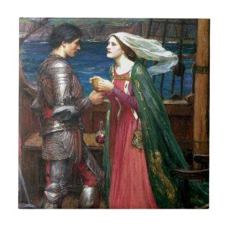 Tristan e Isolda de John William Waterhouse Azulejo Cerámica