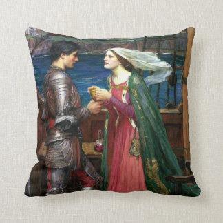 Tristan e Isolda de John William Waterhouse Cojín