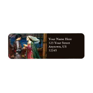 Tristan e Isolda de John William Waterhouse Etiqueta De Remite