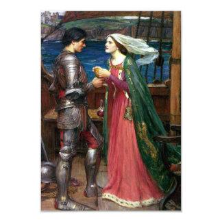 Tristan e Isolda de John William Waterhouse Invitación 8,9 X 12,7 Cm