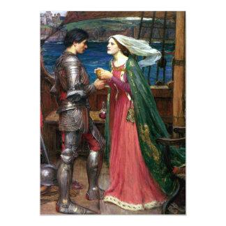 Tristan e Isolda de John William Waterhouse Invitación 12,7 X 17,8 Cm