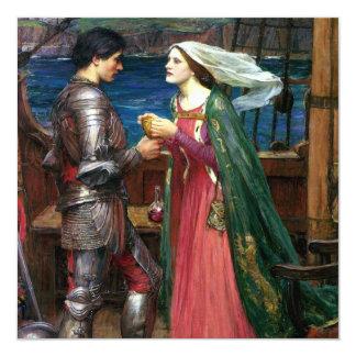 Tristan e Isolda de John William Waterhouse Invitación 13,3 Cm X 13,3cm