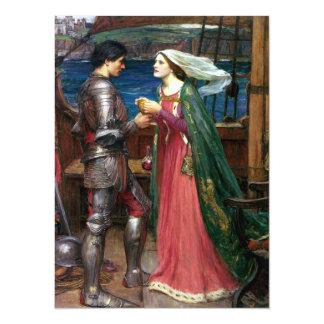 Tristan e Isolda de John William Waterhouse Invitación 13,9 X 19,0 Cm
