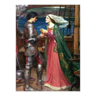 Tristan e Isolda de John William Waterhouse Invitación 16,5 X 22,2 Cm