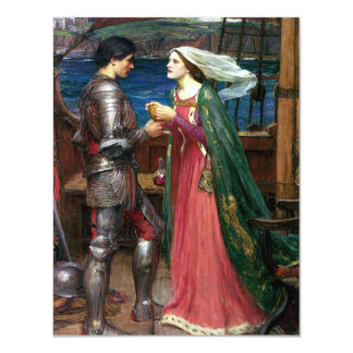 Tristan e Isolda de John William Waterhouse Invitación 10,8 X 13,9 Cm