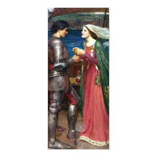Tristan e Isolda de John William Waterhouse Invitación 10,1 X 23,5 Cm