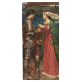 Tristan e Isolda de John William Waterhouse Memoria USB 2.0 De Madera