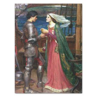 Tristan e Isolda de John William Waterhouse Papel De Seda